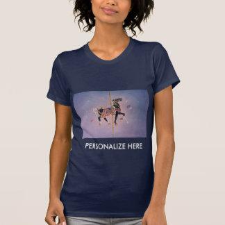 Women's Dark Tees - Petaluma Carousel Horse 2