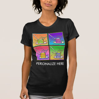 Women's Dark Tees - Pop Art Cake