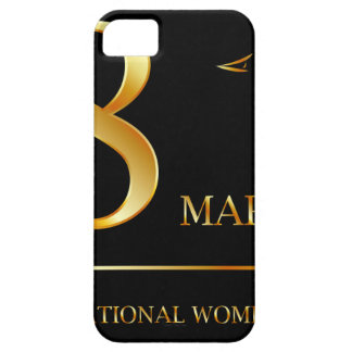 Womens day graphic in gold iPhone SE/5/5s case