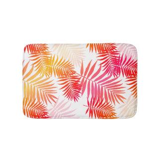 decor palm tree leaf in sunset colors bathroom mat