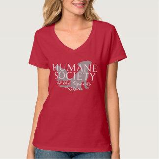 Women's Deep Red Hanes Nano V-Neck Short Sleeve T-Shirt