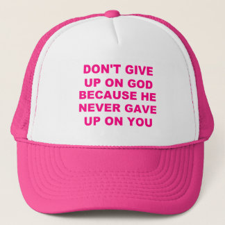 Womens Don't Give Up Hat