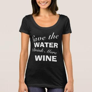 Women's DRINK THE WINE Scoop Neck T-Shirt