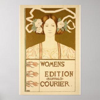 'Women's edition Buffalo Courier' Poster