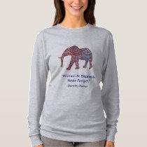 Women's Elephant Long Sleeve Shirt