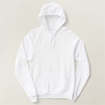 Beach Themed Women's Embroidered American Apparel Hoodie