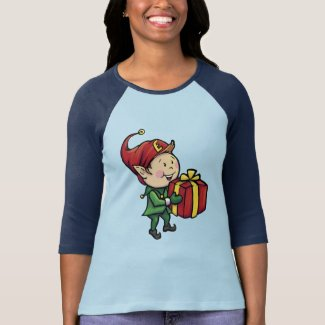 Women's Ernie the Elf Baseball Tee - Christmas Tee