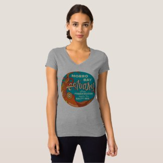 Women's Estuary Octopus V-neck Shirt Grey