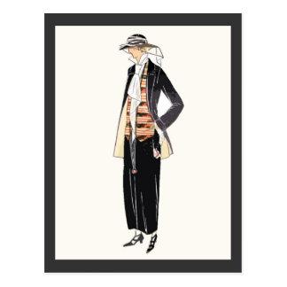 Women's Fashion 1920s Deco Pochoir Postcard