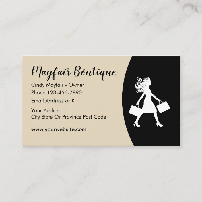 Womens Fashion Boutique Business Card Zazzle Com