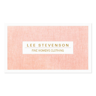 Women's Fashion Boutique Light Pink Feminine Business Card Template