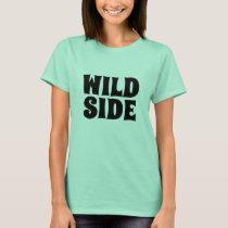 Women's fashion novelty tee WILD SIDE t-shirt