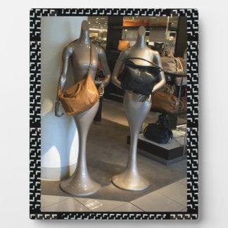 Women's Fashion Showroom Window Hand Bags shopping Plaque