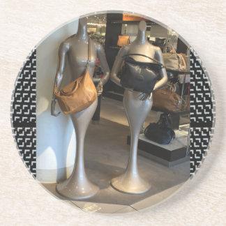 Women's Fashion Showroom Window Hand Bags shopping Sandstone Coaster