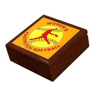 Women's Fastpitch Softball Keepsake Jewelry Box