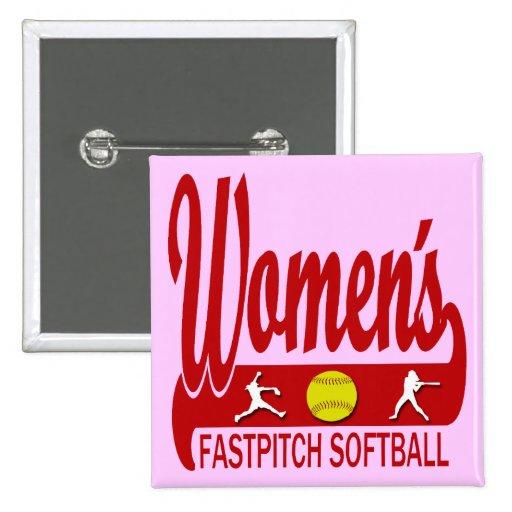 Women's Fastpitch Softball Pinback Button
