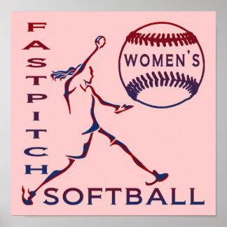 Women's Fastpitch Softball Print