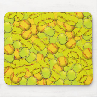 Women's Fastpitch Softballs Collage Mouse Pad