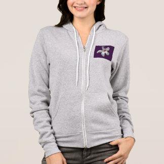 Women's Fatigued Hibiscus flower hoodie. Hoodie