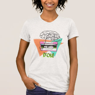 Women's Fine Jersey Tee in Colorful Doh Tape Retro