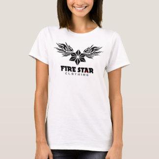 Women's Fire Star Basic Logo T-black T-Shirt
