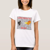 Women's Firehouse T-shirt With Word Cloud