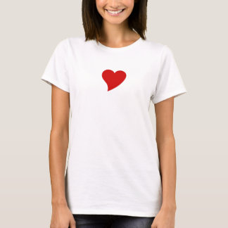 women's fitted tee with red heart