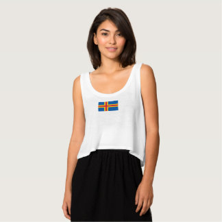 Womens Flag of the Aland Islands Tank Top