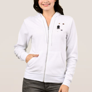 Womens fleece hoodie