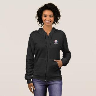 Women's fleece hoodie in black