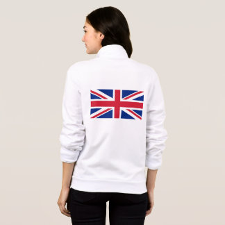 Women's  Fleece Jogger with flag of United Kingdom Jacket