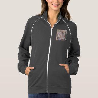 Women's Fleece track jacket w/ art