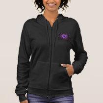 Women's Fleece Zip Hoodie Purple Fairy Dust