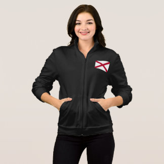 Women's  Fleece Zip Jogger flag of Alabama, USA Jacket