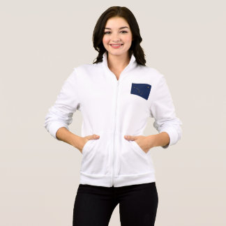 Women's  Fleece Zip Jogger flag of Alaska, USA Jacket