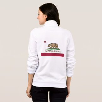 Women's  Fleece Zip Jogger flag of California, USA Jacket
