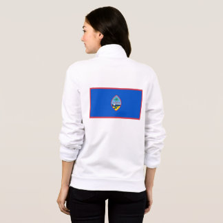 Women's  Fleece Zip Jogger flag of Guam, USA Jacket