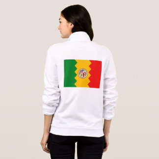 Women's  Fleece Zip Jogger flag of Los Angeles, US Jacket