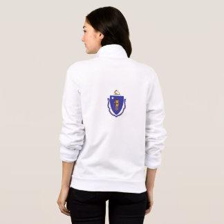 Women's  Fleece Zip Jogger flag of Massachusetts Jacket