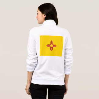 Women's  Fleece Zip Jogger flag of New Mexico, USA Jacket