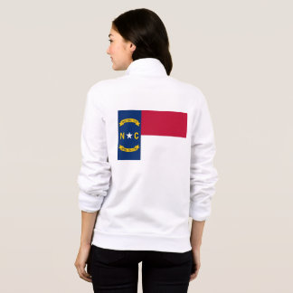 Women's  Fleece Zip Jogger flag of North Carolina Jacket