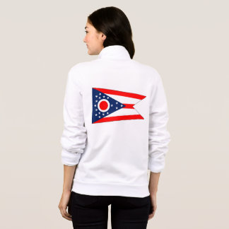 Women's  Fleece Zip Jogger flag of Ohio State Jacket
