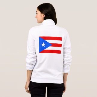 Women's  Fleece Zip Jogger flag of Puerto Rico Jacket