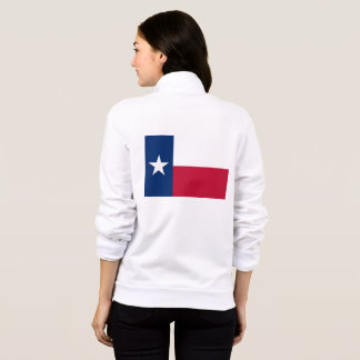 Women's  Fleece Zip Jogger flag of Texas Jacket