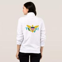 Women's  Fleece Zip Jogger flag of Virgin Islands Jacket