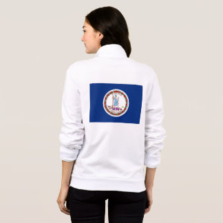 Women's  Fleece Zip Jogger flag of Virginia Jacket