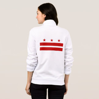 Women's  Fleece Zip Jogger flag of Washington DC Jacket
