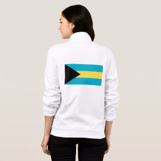 Women's  Fleece Zip Jogger with flag of Bahamas Jacket