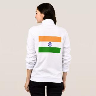 Women's  Fleece Zip Jogger with flag of India Jacket