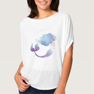 Women's FLowy Circle Mermaid Top